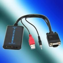 Cavo adattatore e convertitore da VGA e audio a HDMI jack 3.5mm cavo 12Cm tv USB