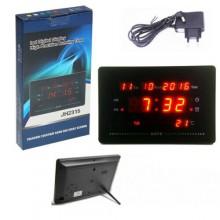 Orologio digitale da parete muro tavolo a LED 23,5x15,0x3Cm data ora temperatura