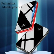 Power bank batteria portatile 10000 mAh 2 porte USB carica veloce mini specchio
