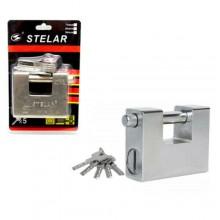Lucchetto corazzato per serranda in acciaio 5x chiavi antiscasso monoblocco
