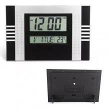 Orologio sveglia digitale display LED 30x20x3.1Cm schermo LCD multifunzione data