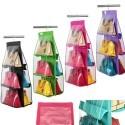 Organizzatore da Armadio Borsa fino a 6 Borse con Gruccia Integrata vari colori