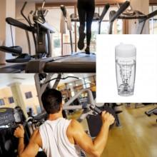 Shaker trasparente 600 ml per proteine e integratori palestra fitness elettrico