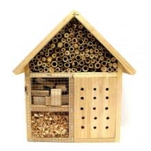 Casetta per insetti legno naturale bambù anti parassiti coccinelle api giardino