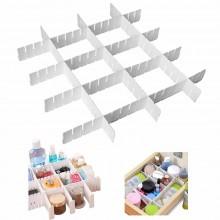 Divisori in plastica cassetti regolabili organizer piccoli oggetti bianco spazio