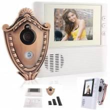 """Spioncino digitale di sicurezza display 2.8"""" LCD con funzione campanello audio e video per porte portone - dotato di zoom"""