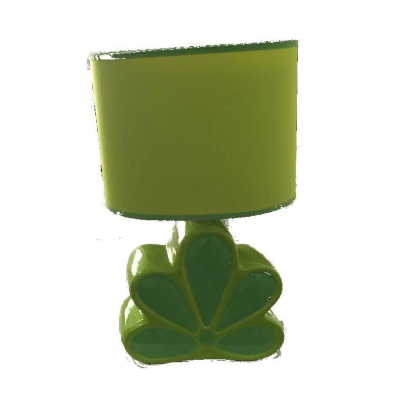 Lampada in ceramica da tavolo o comodino bajour con interruttore sul cavo - Lampadina non inclusa - VERDE