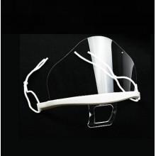 10x Mascherina visiera trasparente protezione viso aperta anti appannante laccio microfibra