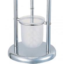 Piantana porta scopino e porta rotolo acciaio cromato design moderno e funzionale bagno WC