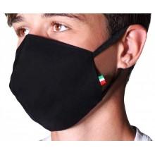 Copertura viso mascherina cotone poliestere con 20 di ricarica in tnt filtri aria lavabile e riutilizzabile con morbidi elastici