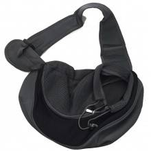 Zaino a tracolla monospalla trasportino per animale domestico cane gatto borsa per il vostro cucciolo - Colore nero-grigio