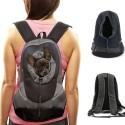 Zaino da spalle trasportino doppia spalla per animale domestico cane gatto borsa per il vostro cucciolo - Colore nero-grigio