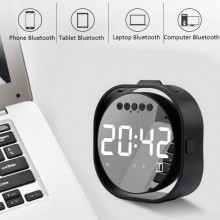 Cassa sveglia orologio digitale bluetooth Q106 bianca display LCD a specchio USB
