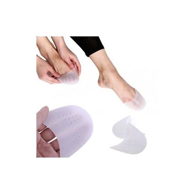 Coppia protezione proteggi in gel per alluce valgo con separatore punte o calza salva tallone punta per cura del piede