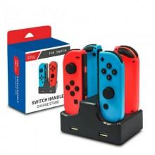 Supporto carica 2 controller Nintendo Switch Joy-Con USB caricatore controller