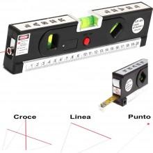Livella laser 4 in 1 Orizzonte o verticale Linea incrociata metro misurazione magnetico Allineatore Linee di marcatura laser