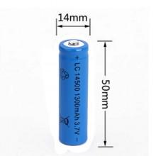 5x BATTERIA RICARICABILE LC 14500 1300mAh 3.7V batterie ricaricabili blu 14x50mm