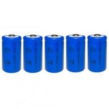 5x BATTERIA RICARICABILE LC 16340 1300mAh 3.7V batterie ricaricabili blu