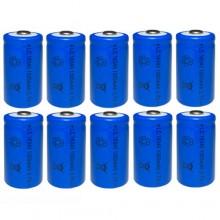 10x BATTERIA RICARICABILE LC 16340 1300mAh 3.7V batterie ricaricabili blu