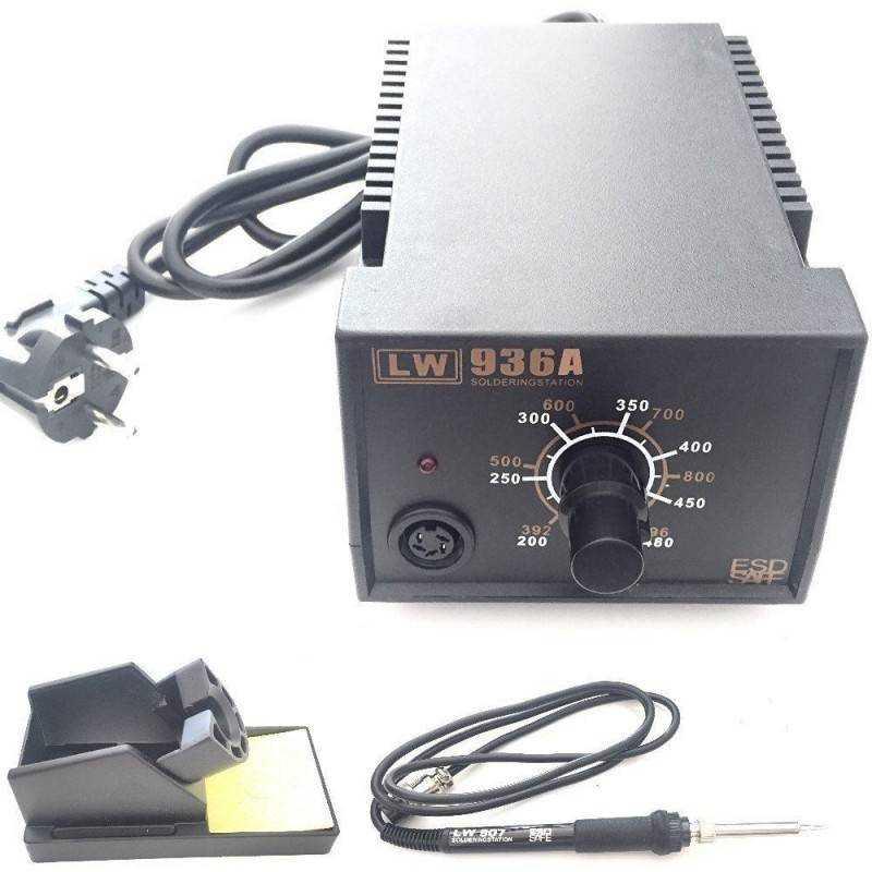 Stazione saldante dissaldante saldatore professionale completa con regolazione analogica manuale italiano - LW.936.A