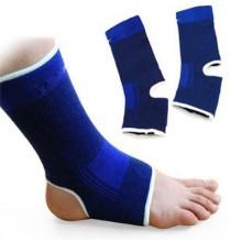 2x Fascia elastica per caviglia elasticizzato distorsioni contusioni blu piede