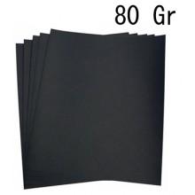 5x Fogli di carta vetrata 80gr grana per ferro 21x24 Cm carta abrasiva bricolage