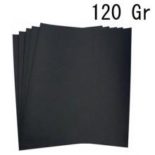 5x Fogli di carta vetrata 120gr grana per ferro 21x24Cm carta abrasiva bricolage