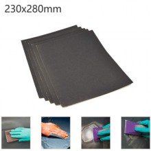 5x Fogli di carta vetrata 240gr grana ad acqua 23x28Cm carta abrasiva bricolage