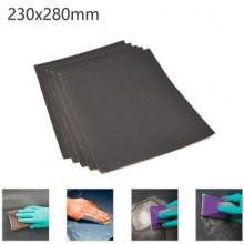 5x Fogli di carta vetrata 320gr grana ad acqua 23x28Cm carta abrasiva bricolage