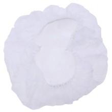 250x Cuffia copricapo infermiera monouso usa e getta dottori TNT bianco elastico