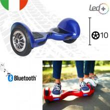 Hoverboard ruote 10 pollici scooter overboard elettrico 350W altoparlanti blu