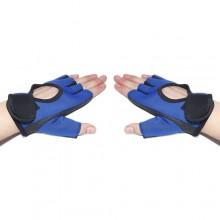 2 Guanti da ginnastica sport ciclismo blu palestra sollevamento pesi antiscivolo