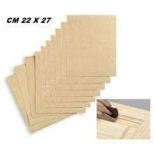 5x Fogli di carta vetrata 60gr grana per legno 22x27 Cm carta abrasiva bricolage