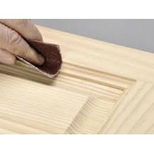 5x Fogli di carta vetrata 120gr grana per legno 22x27Cm carta abrasiva bricolage