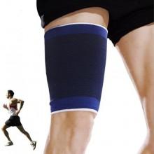 2x Fascia elastica per coscia protezione tutore scaldamuscoli sport uomo donna