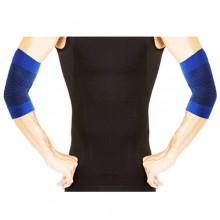2x Fascia per gomito fascia elastica gomitiera supporto infortuni blu ambidestro
