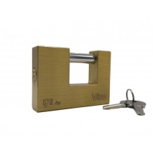 Lucchetto in ottone massiccio antiscasso catenaccio cancello 70 x 55 mm 2 chiavi
