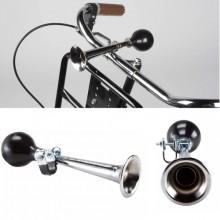 Tromba trombetta per bicicletta bici cromata manubrio ciclismo vintage accessori