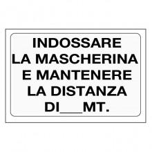 10x Cartello INDOSSARE LA MASCHERINA PVC 20x30 cm negozio ufficio magazzino