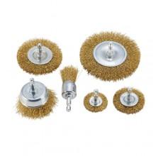Set spazzole pulitrici 6 Pz in acciaio smerigliatrice pulitrice rimuovi ruggine