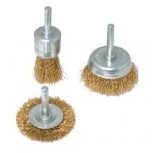 Set spazzole pulitrici 6 Pz in acciaio smerigliatrice pulitrice rimuovi ruggine spazzole per trapano