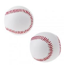2x Palla da baseball pelle pratica allenamento sport tempo libero bambini adulti