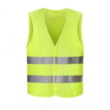 Gilet soccorso stradale giallo bande catarifrangenti strada sicurezza taglia XXL