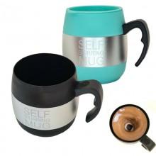 Tazza auto mescolante termica self stirring mug miscela schiuma caffe cappuccino