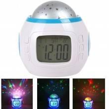 Orologio sveglia datario e temperatura proiettore di stelle per bimbi con tante melodie