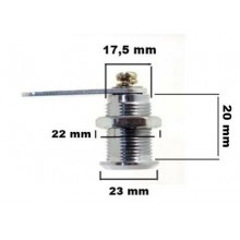 Serratura a cilindro 2 chiavi cassette posta vetrine postali armadietti 20 mm