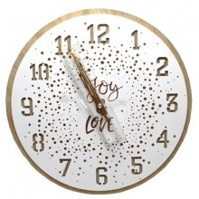 Orologio da parete Tondo in legno quarzo 30cm Joy e Love color legno chiaro