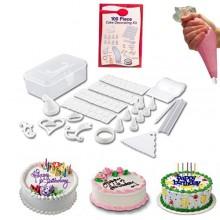 Kit 100Pz decorazione torte dolci pasticceria set decorazioni stampi sac a poche