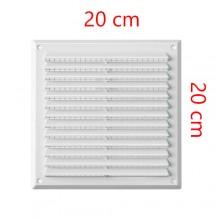 Griglia d'aria ventilazione 20x20Cm applicazione a parete soffitto aerazione ABS