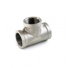 """Raccordo a T 1""""x 3/4"""" raccordi acqua tubo idraulica impianti tubazione acciaio"""
